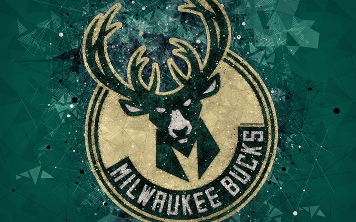 Download Wallpapers Milwaukee Bucks 4k Creative Logo American Basketball Club Emblem Geometric Art Nba Green Abstract Background Milwaukee Wisconsin U Logo Basketball Milwaukee Bucks Milwaukee Bucks Basketball