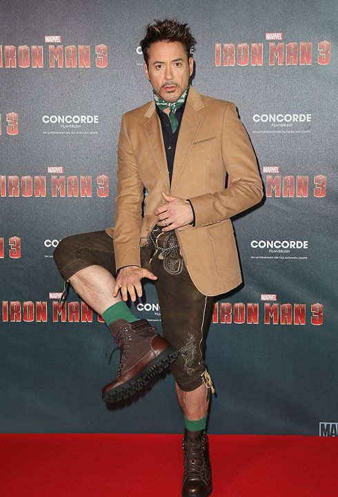 Robert Downey Jr. Rocks Lederhosen!
