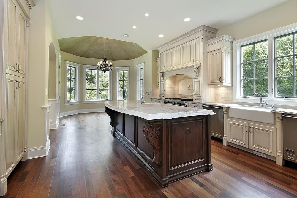 White Kitchen Wood Island | Dark Wood Island In White Kitchen Google Search Must Haves