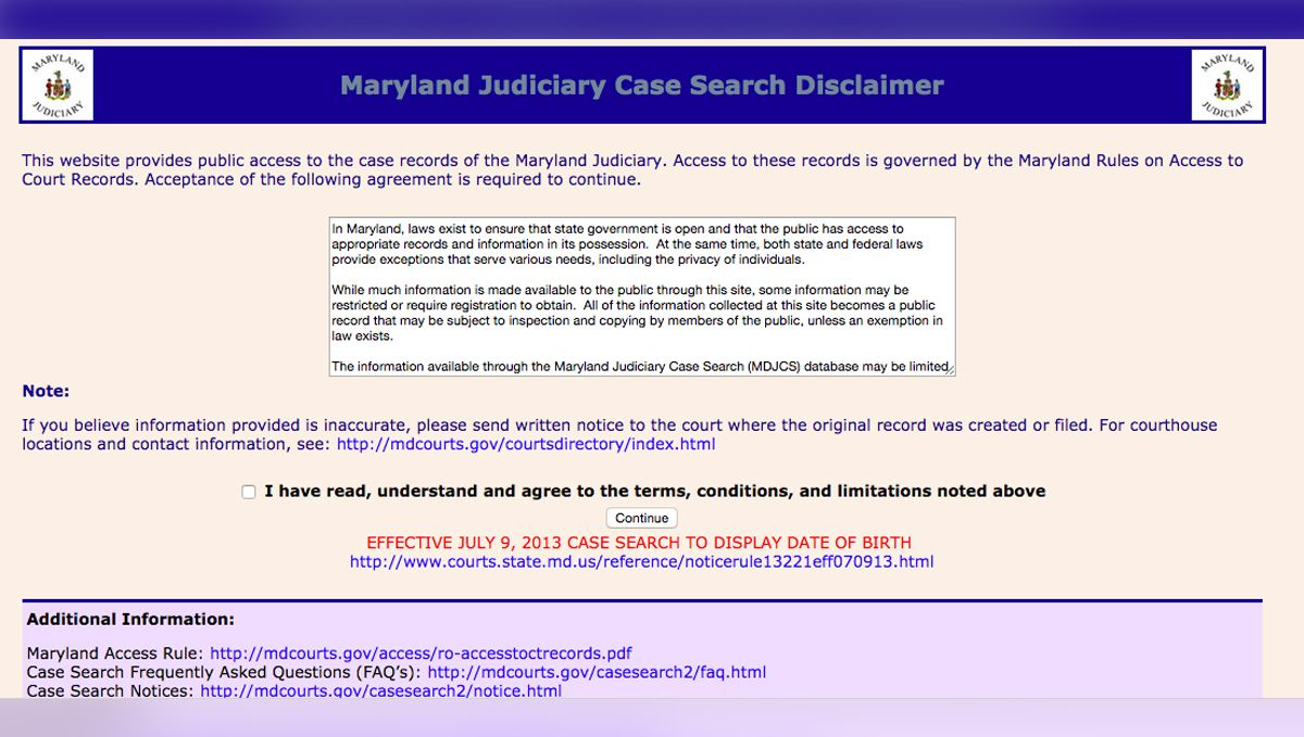 In a Blow to Transparency, Maryland Courts Remove Police