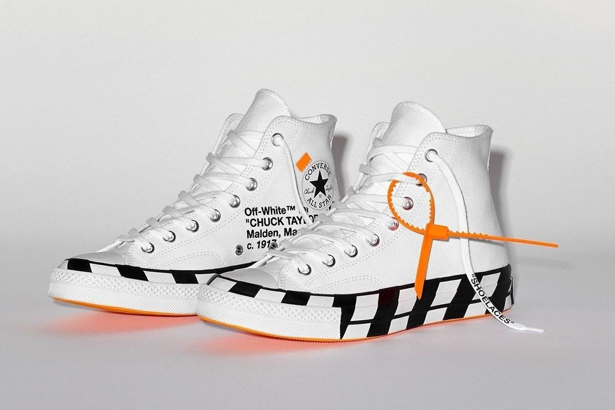 Off White X Converse Chuck Taylor All Star 70 Hi By Virgil Size 9 Off White Converse Off White Shoes Sneakers