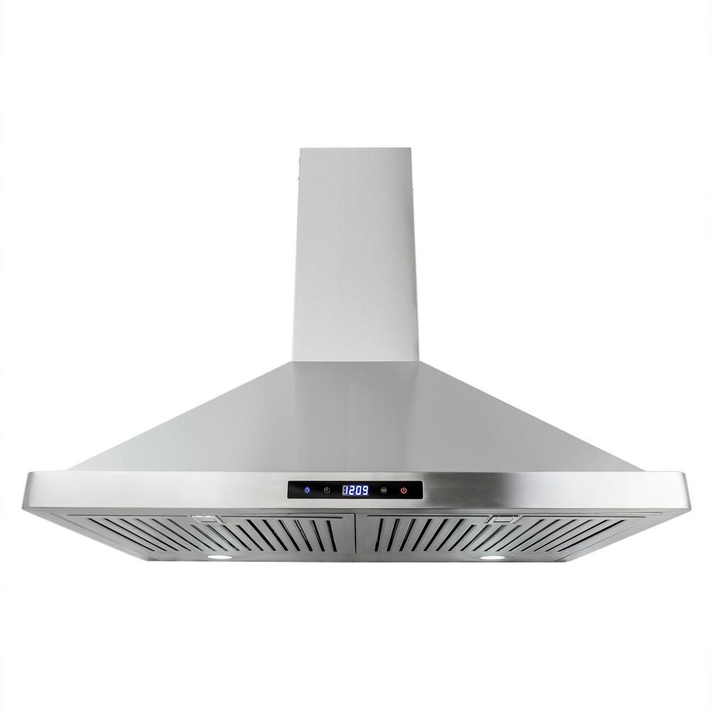 Cosmo 30 In Ducted Range Hood In Stainless Steel With Touch Controls Led Lighting And Permanent Filters Cos 63175s Wall Mount Range Hood Stainless Steel Range Hood Wall Mount