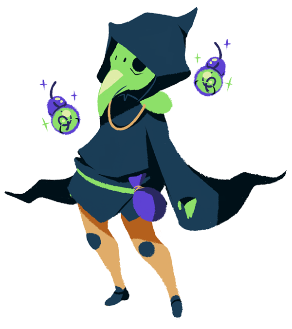 Plague Knight (character from Shovel Knight) by kada-bura on tumblr
