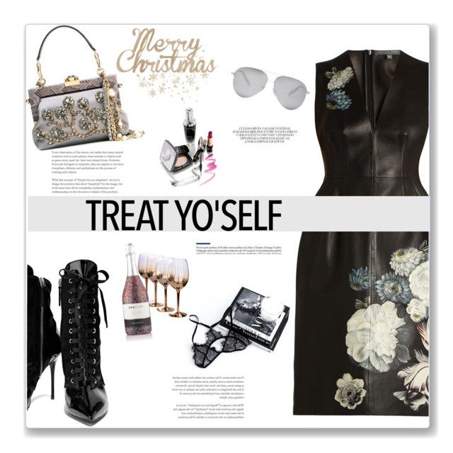 """It's Time to Treat Yo'Self"" by kays-fashion-escape ❤ liked on Polyvore featuring Alexander McQueen, Giuseppe Zanotti, Dolce&Gabbana, Victoria Beckham, Kaiser, contestentry, polyvorecontest, treatyoself and splurgegifts"