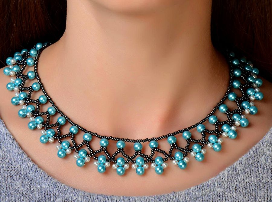 Free pattern for necklace Protaras (Beads Magic)   Free pattern ...