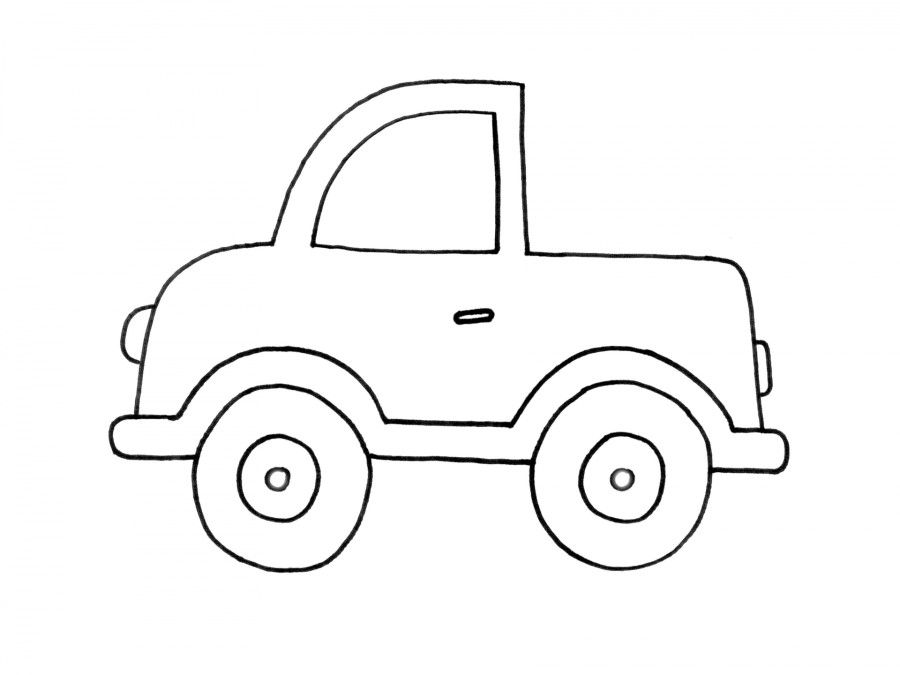 Printable 26 Simple Car Coloring Pages 5995 Simple Car Coloring