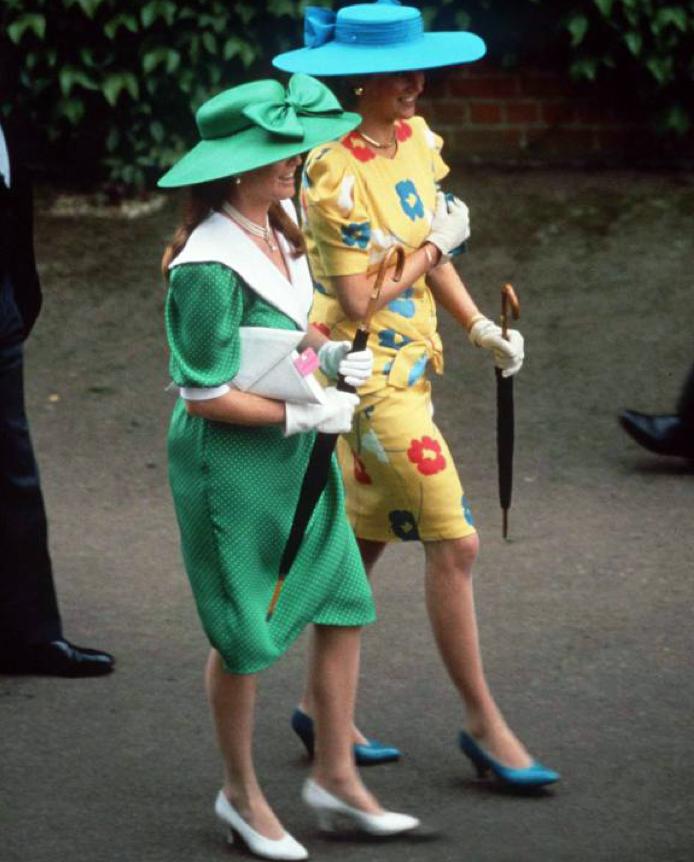 Princess Diana and Sarah, Duchess Of York Ascot. 17 Jun