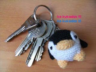 Crochet Amigurumi Keychain Free Pattern : Little penguin amigurumi key chain charm free crochet pattern