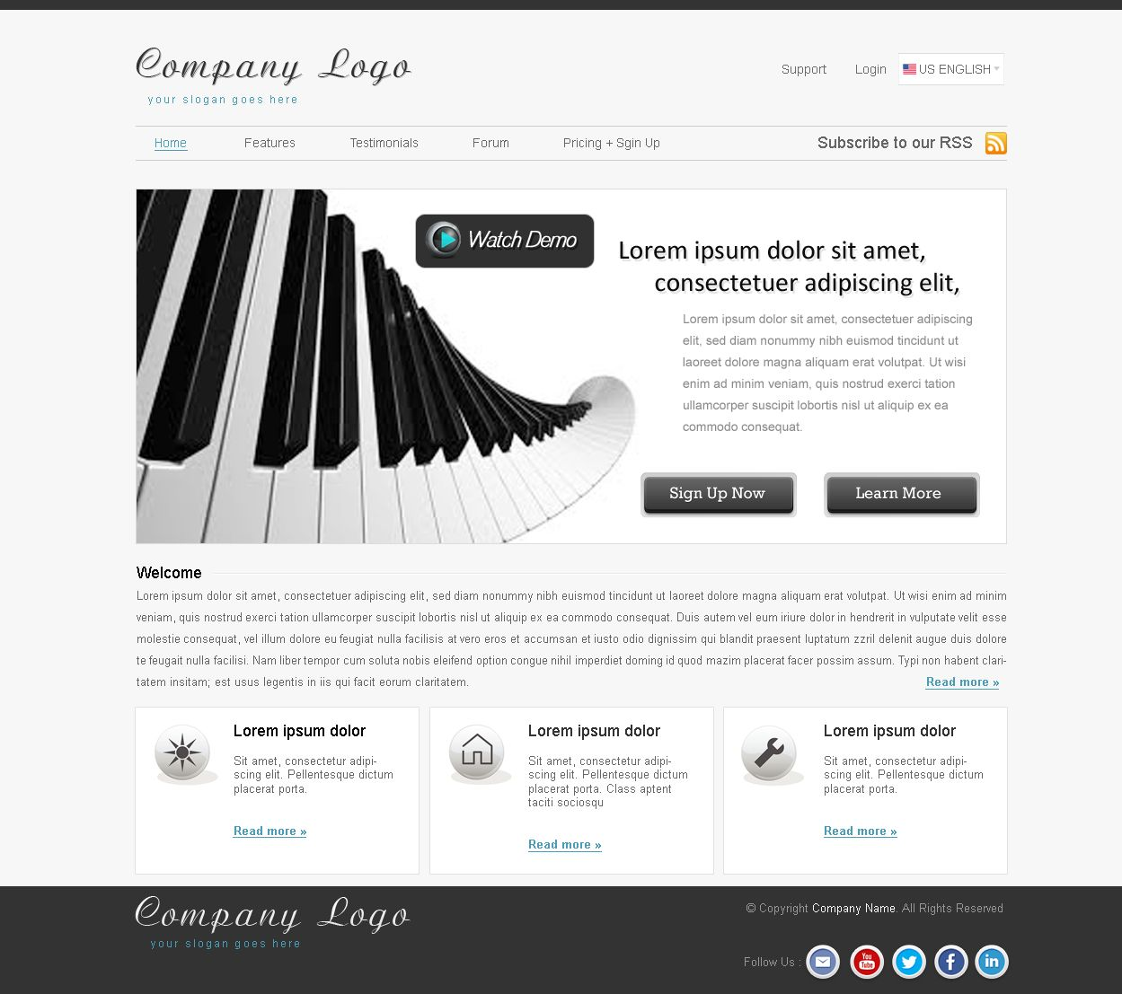 Nyc Web Apps Mock Up For A Online Music Classes Let S Us Know If You Want This Theme For Free Web App App Testimonials