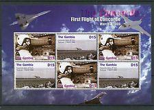 Gambie 2006 neuf sans charnière concorde premier vol 4v m/s jet avions aviation turcat timbres