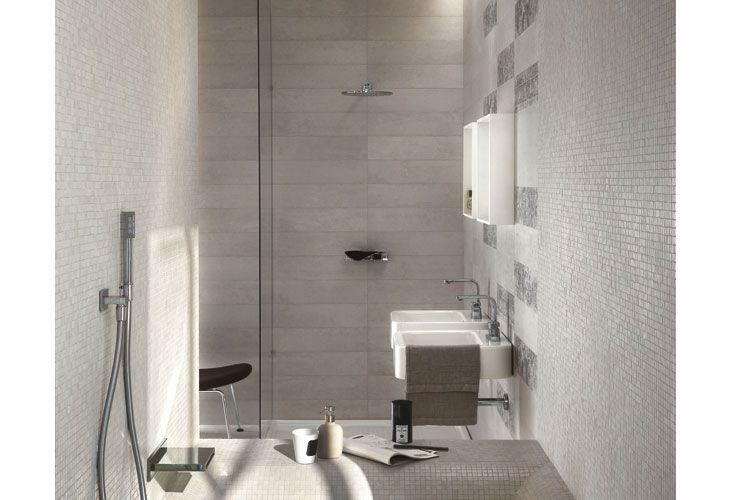 Rivestimento gres porcellanato effetto cemento rivestimenti bagno pinterest bathroom - Iperceramica rivestimenti bagno ...