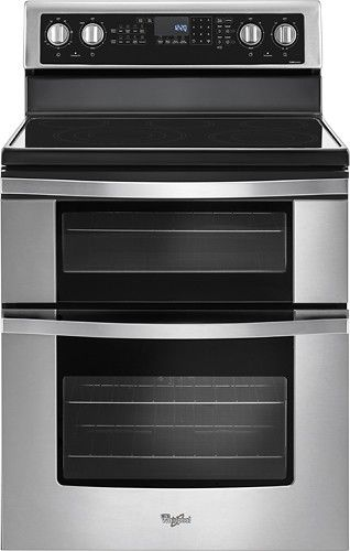 Whirlpool 6 7 Cu Ft Self Cleaning Freestanding Double Oven