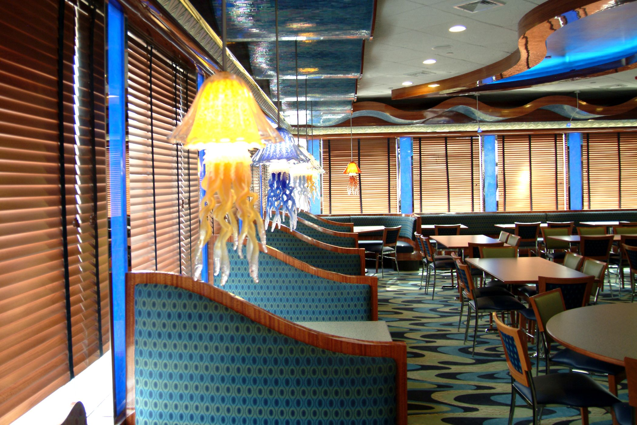 More Underwater Creatures Are Found In These Jellyfish Pendants In The East Bay Diner In Wantagh Ny With Images Commercial Design Underwater Creatures East Bay