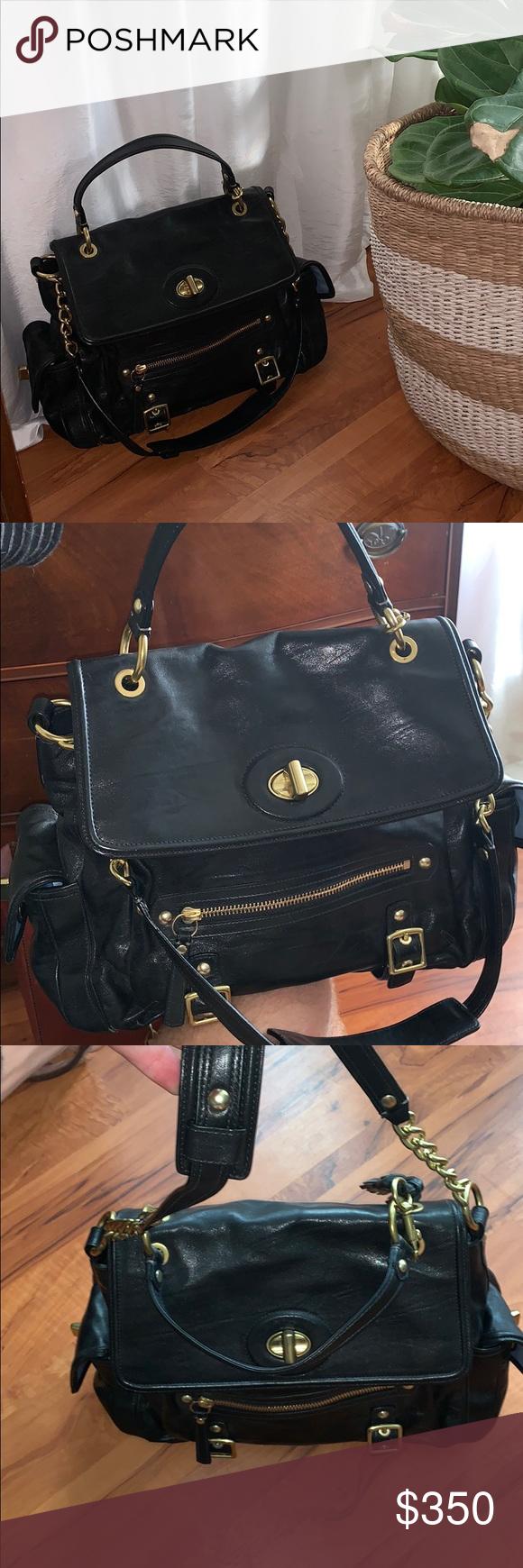 Coach Handbag Black Leather Handbags