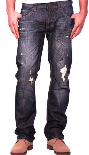 Jordan Craig Slim Straight Wax-Coated Jeans Vintage