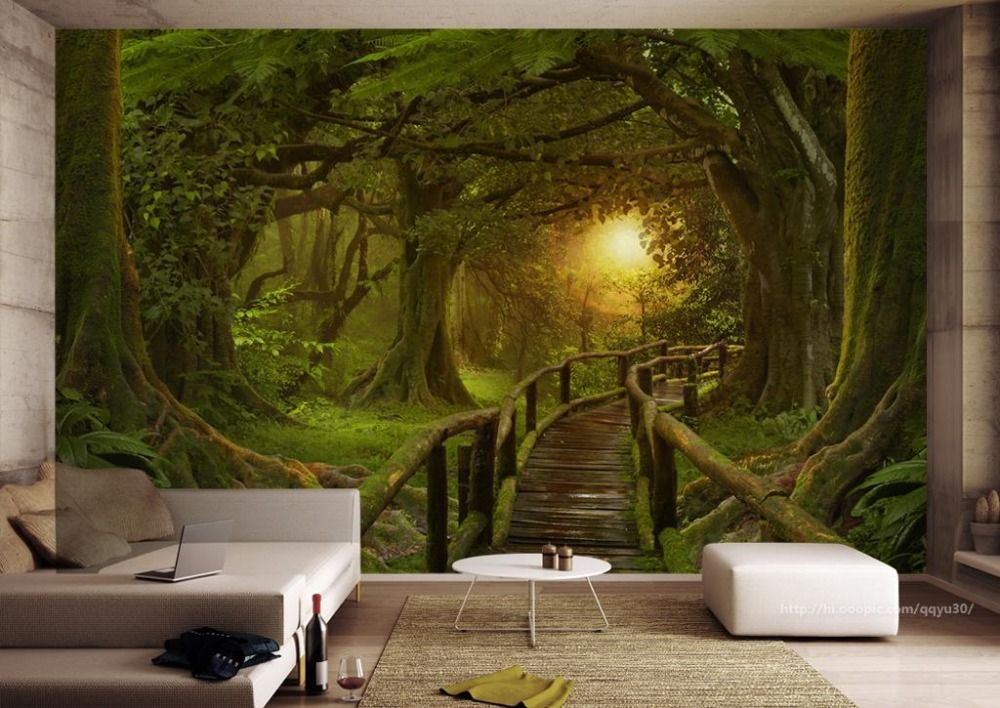 Cheap 3d wall murals Buy Quality tv background directly from China