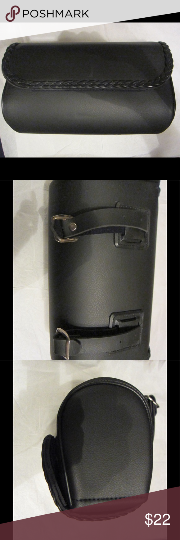 Leather bike/motorcycle/scooter handle bar bag. Very