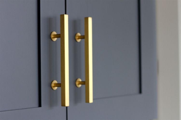 Kitchen Reveal Andrea Porritt Gold Cabinet Handles Gold Cabinet Hardware Cabinet Handles