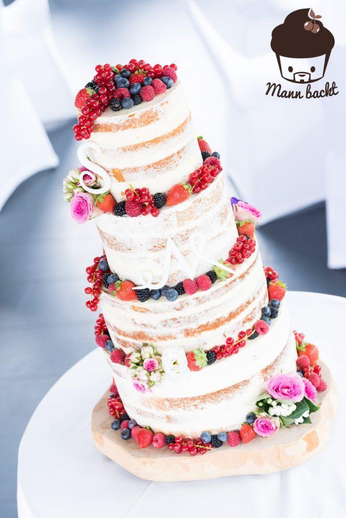 [Tutorial und Rezepte] Hochzeitstorte Naked Cake mit Beeren Tutorial #amazingcakes