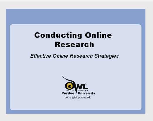 The Purdue Owl Conducting Research Research Skills Writing Lab Writing