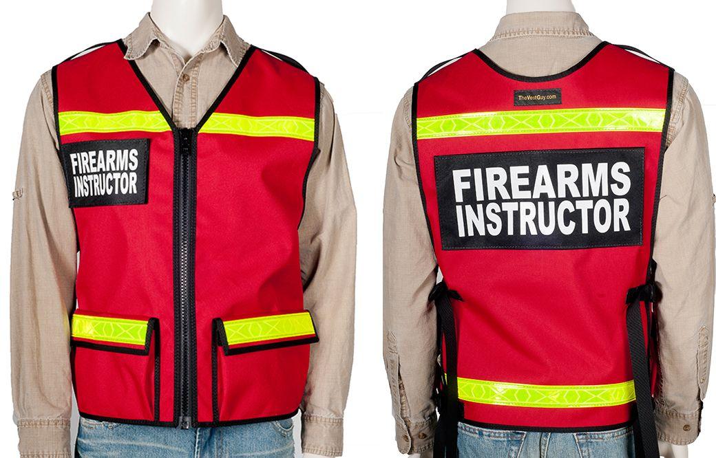 Firearms instructors reflective safety vest each