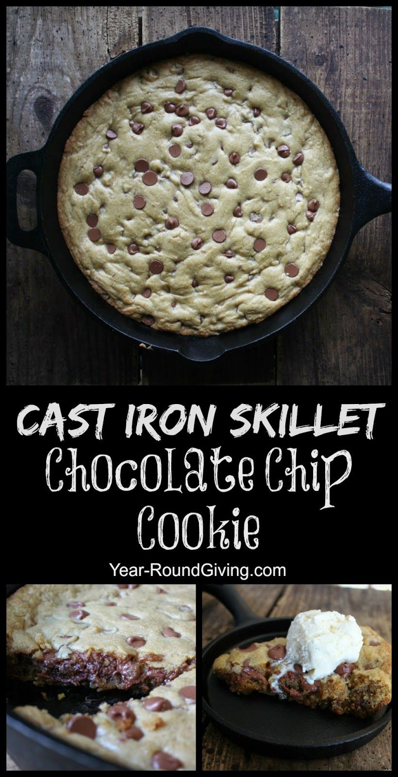 Cast Iron Skillet Chocolate Chip Cookie | Skillets, Skillet ...