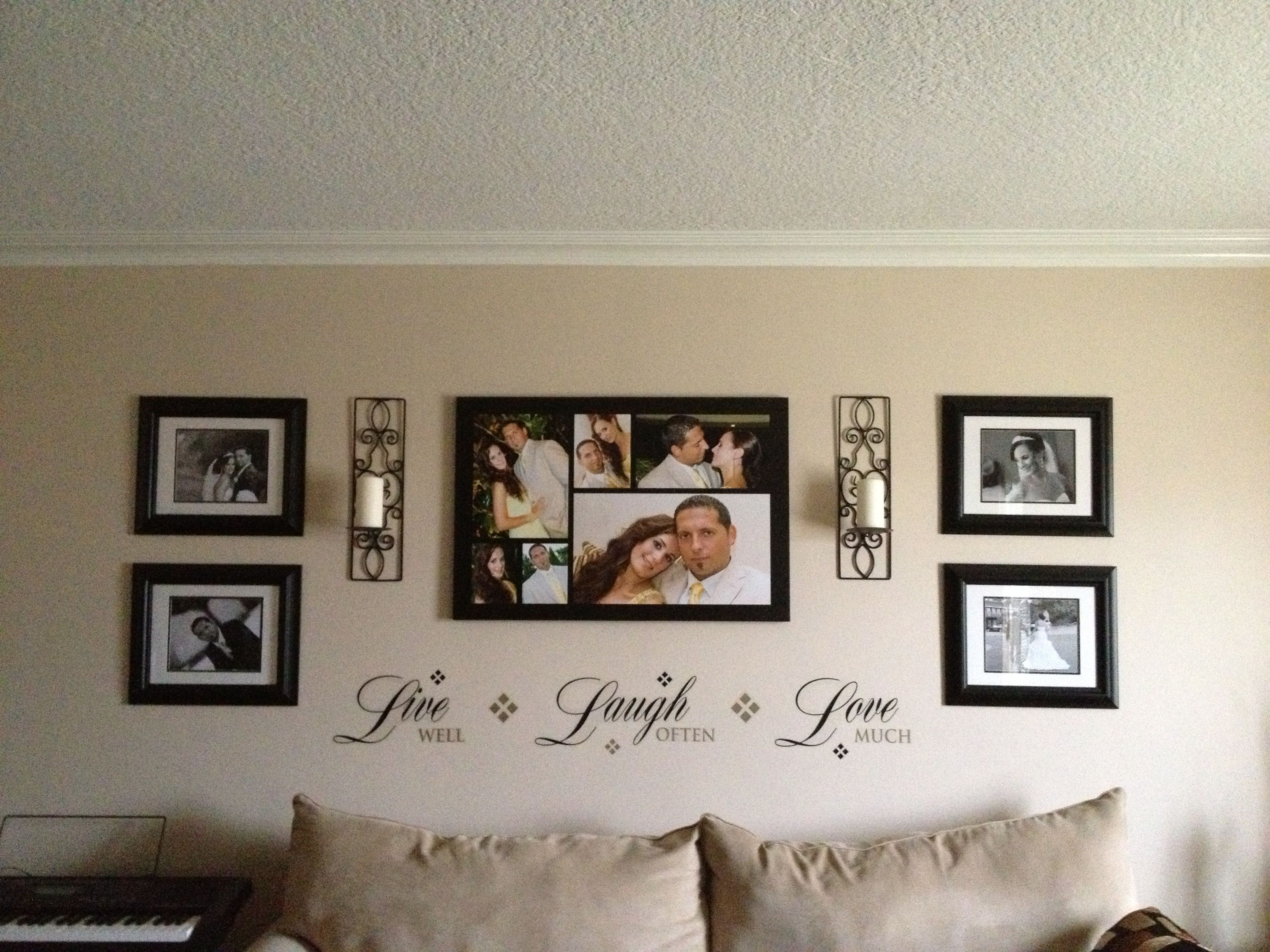 Frames For Living Room Walls Popular Paint Colors 2014 Wall Picture Decor New Home Bedroom