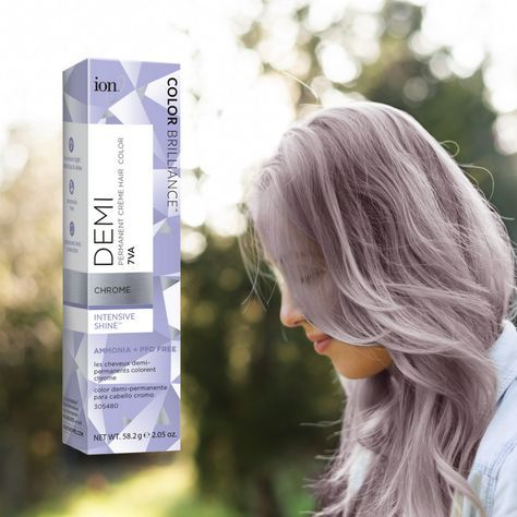 Do You Love Our Chrome Color Ion Color Brilliance Demi Permanent Creme Hair Color In Chrome Has A New Ion Color Brilliance Chrome Hair Color Ion Hair Colors