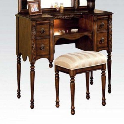 Ashton Oak Vanity and Bench 06540