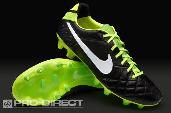 af24653a908b1 Nike Football Boots - Nike Tiempo Legend IV FG - Soft Ground - Soccer  Cleats - Black-White-Electric Green