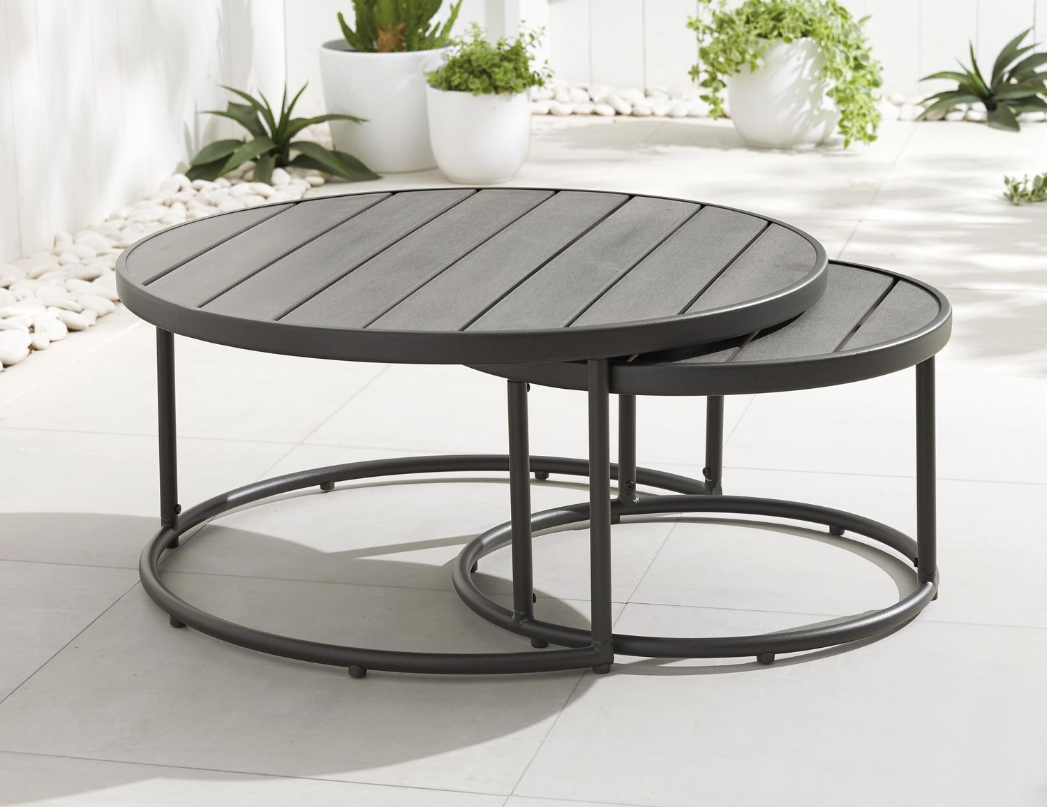 Hometrends 2 Pack Endurowood Nesting Tables Walmart Canada In 2020 Nesting Tables Table Outdoor Tables
