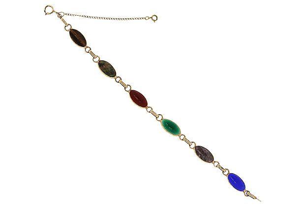 Scarab Multi-Gemstone Bracelet on OneKingsLane.com