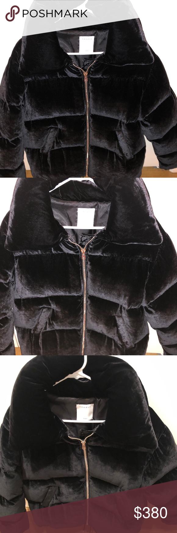 Sandro Velvet Puffer Coat Never Worn Sandro Atenea Velvet Puffer Coat Size 40 Large Supposed To Fit Oversized Very Warm Fashion Clothes Design Puffer Coat [ 1740 x 580 Pixel ]