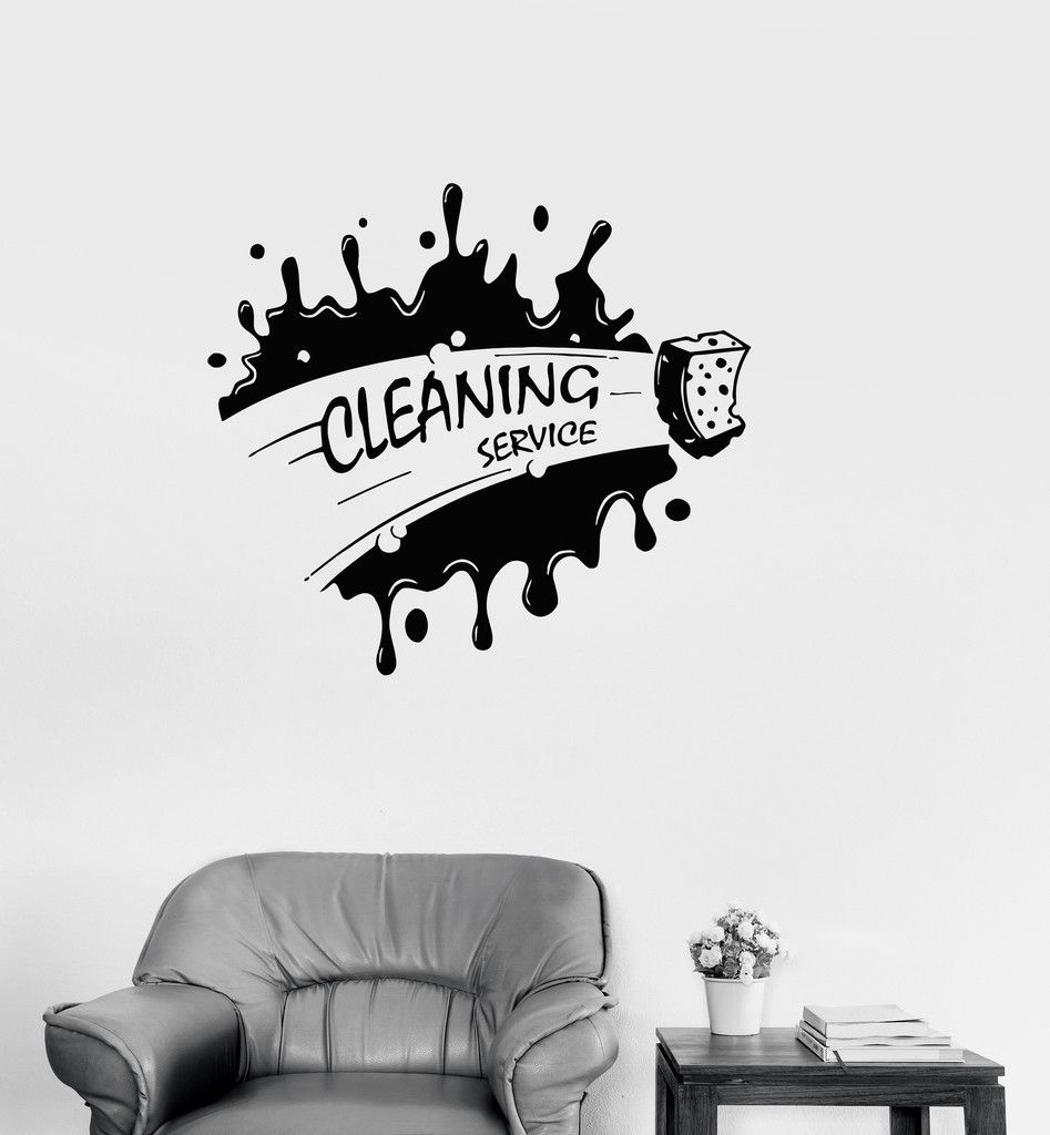 Vinyl Decal Cleaning Service Housekeeping Decor Cleaner