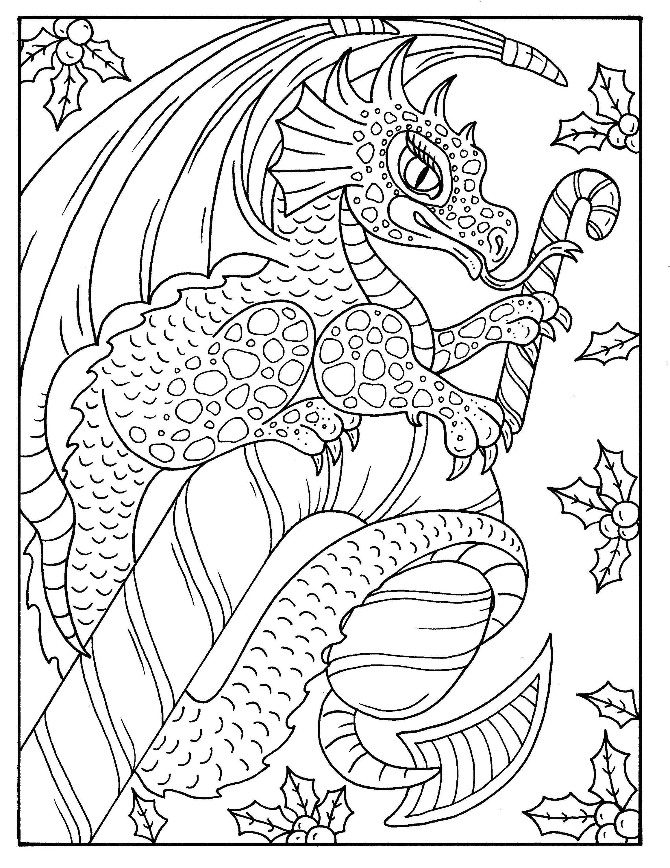 Christmas Magic Digital Coloring Book Pages Fantasy Art Adult