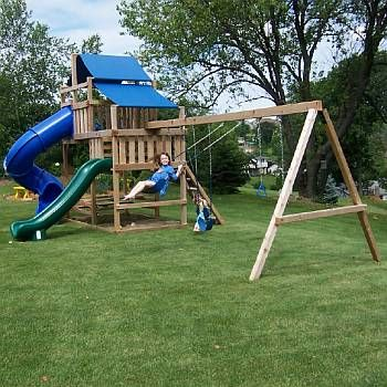 Backyard Swing Set Kits For Sturdy Wood Playsets That Are Easy To
