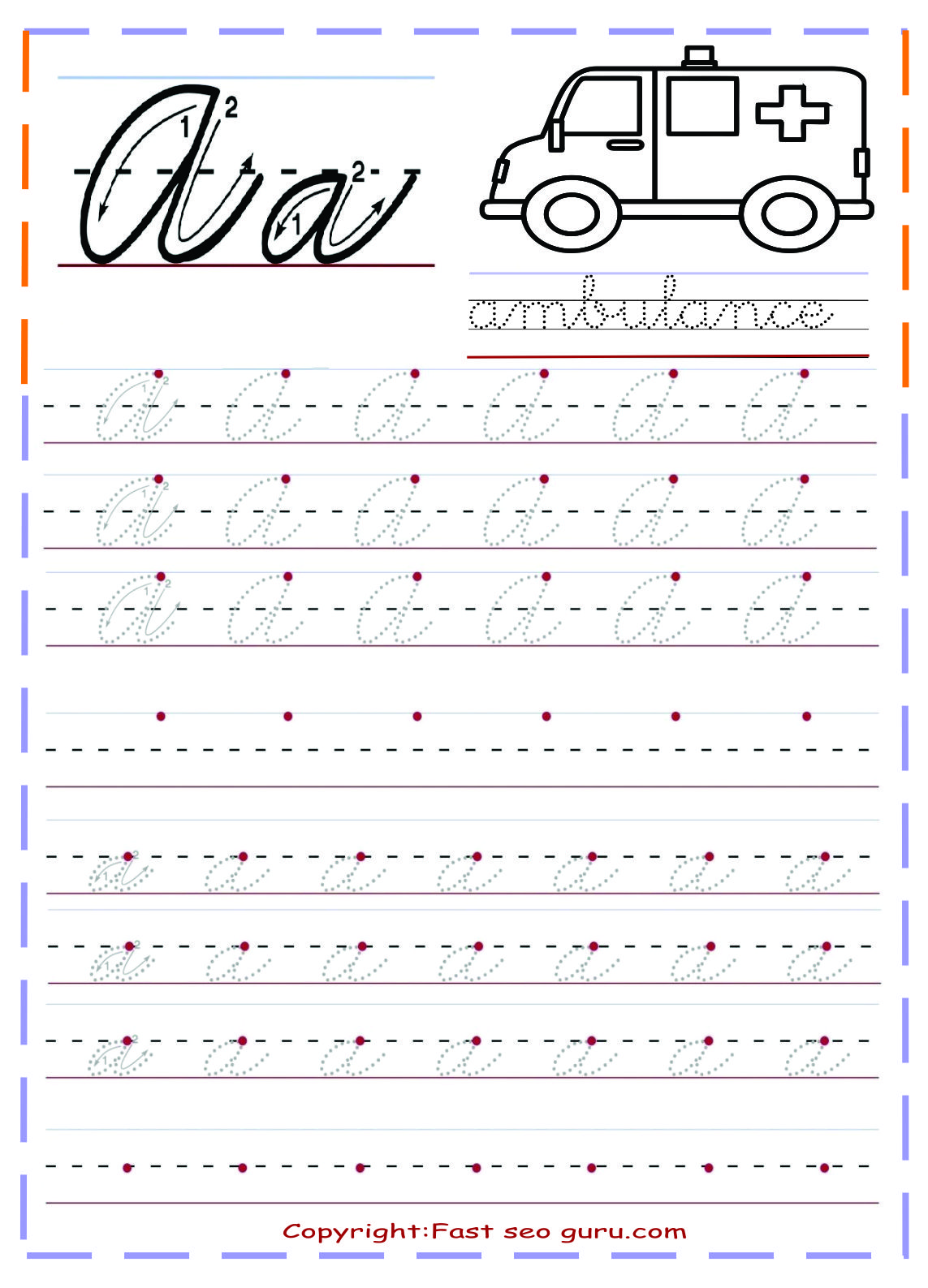 It's just an image of Inventive Cursive Writing Worksheet Free Printable