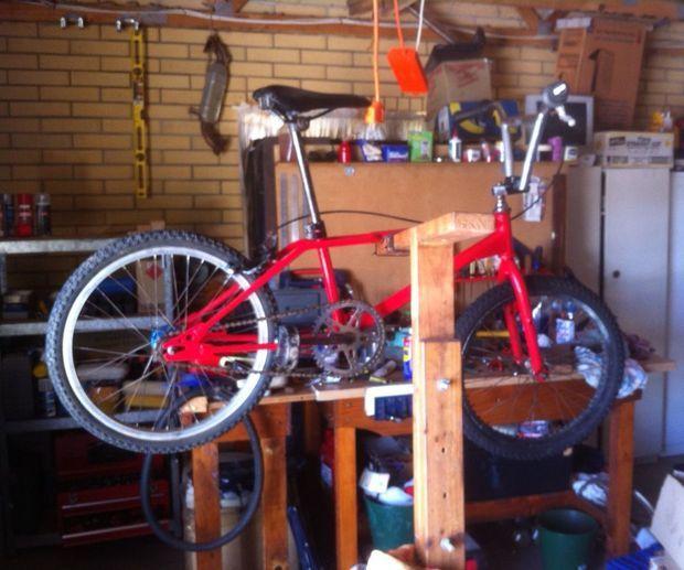 Home Made Timber Push Bike Bicycle Repair Stand Bike Repair