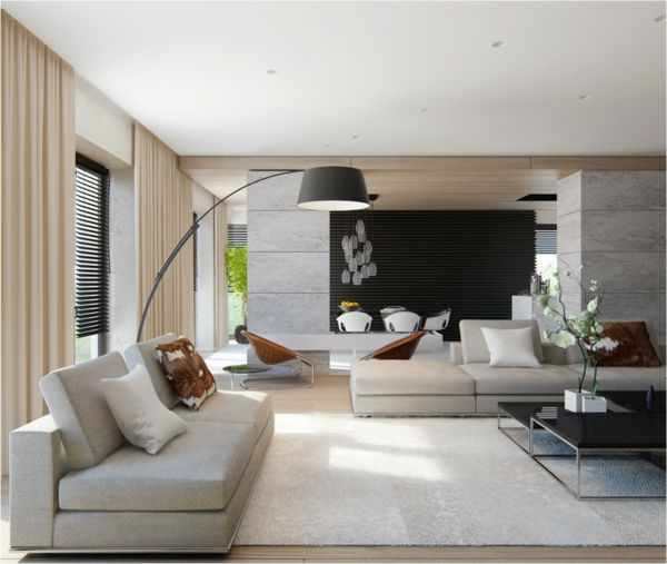 Explore Modern Living Room Designs And More Moderne Wohnzimmer Couch Lampe