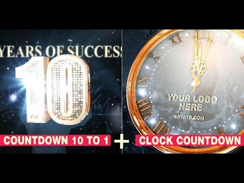 Event Countdown Clock + Timer After Effects Template