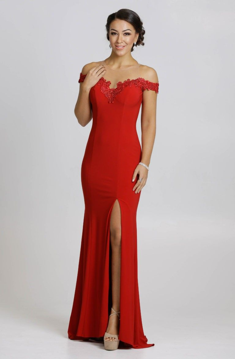 Full length fitted dress style afj in long prom