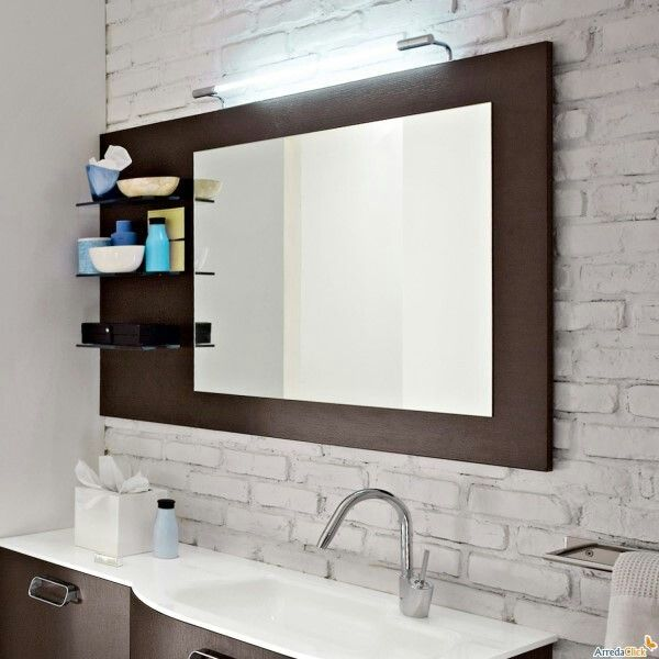 F7ef3db92cecd53b0671e230c2d6aa50 mirror with shelf - Espejos de bano modernos ...