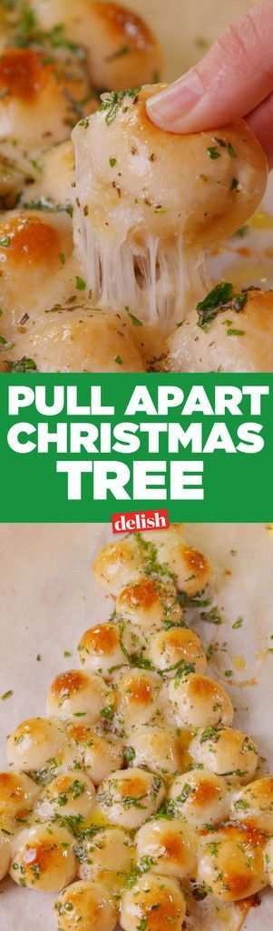 Pull-Apart Christmas Tree Recipe potluck or party provender