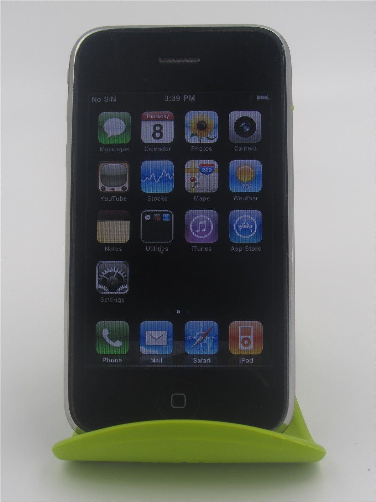 Apple iphone 3g a1241 unlocked smartphone black fair
