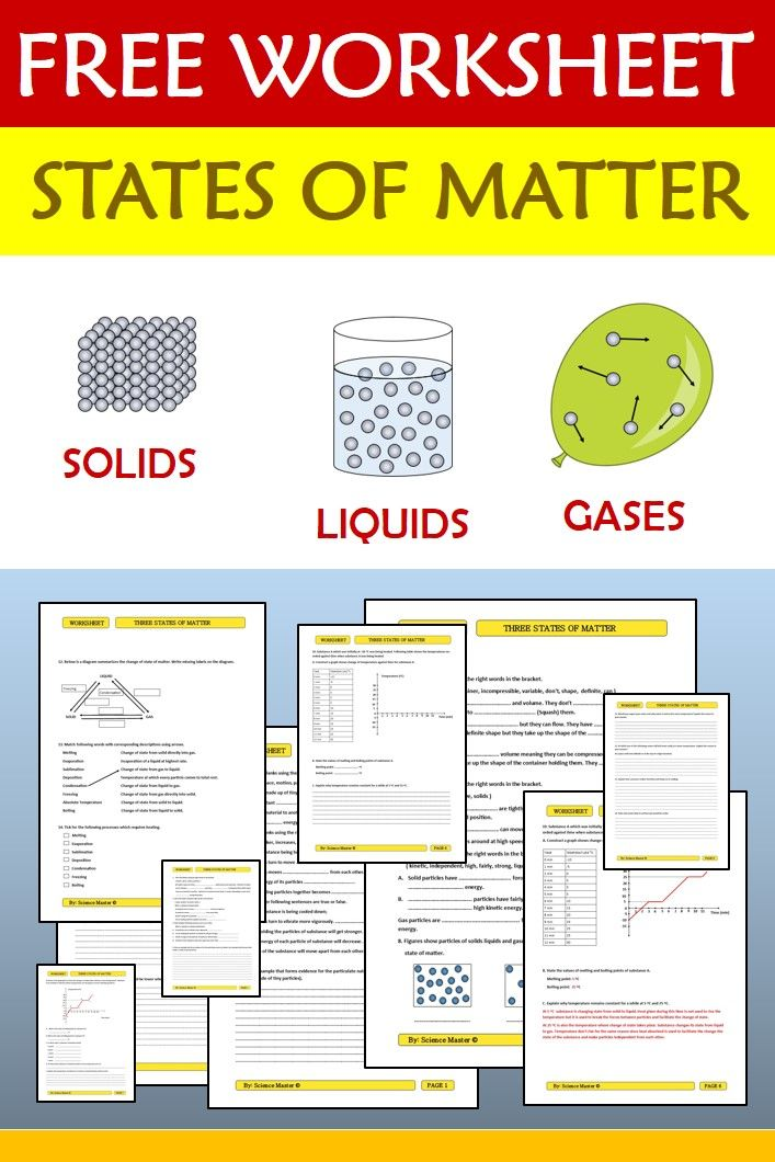States Of Matter Review Worksheet Worksheets Free Worksheets And