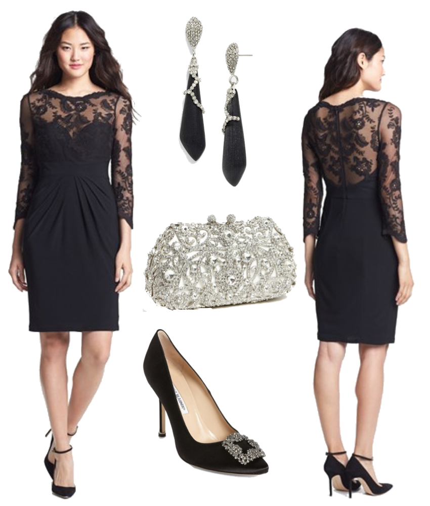 Black dress to wear to a wedding - For What To Wear When The Attire Is Black Tie Optional