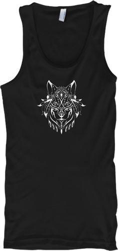 15c22b90326d6b Ethnic Wolf Tank Top