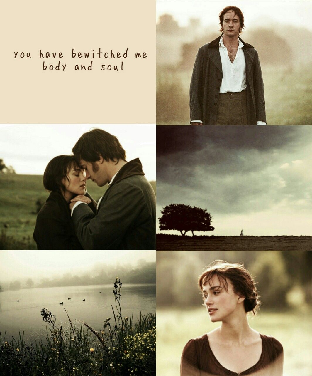 """northernwolfspirit: """" """"(…) I never wish to be parted from you from this day on."""" • Period Drama Couples aesthetic [3/?]: Elizabeth Bennet and Fitzwillian Darcy from Pride and Prejudice (2005) """" #prideandprejudice"""