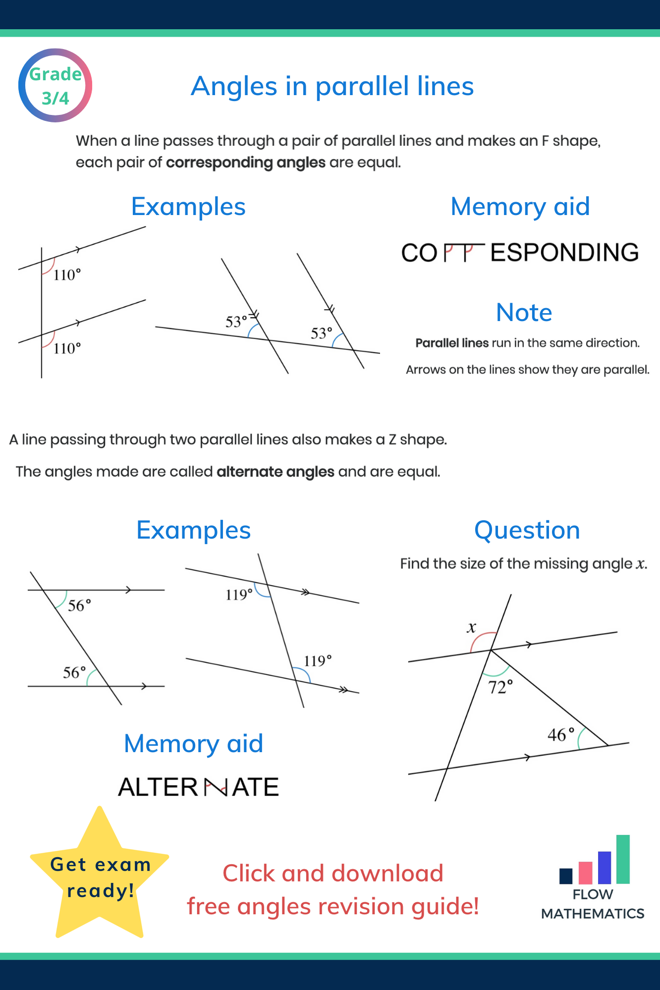 Geometry Angles In Triangles And On Parallel Lines Manual Guide