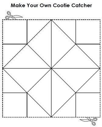 graphic relating to Printable Cootie Catcher Template named Deliver your personalized cootie catcher a.k.a fortune teller! Tremendous